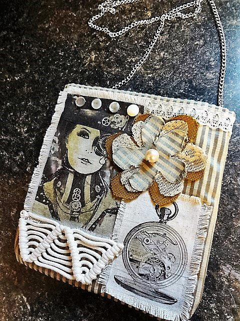 Art: Steampunk Purse 4 (SOLD) by Artist Vicky Helms