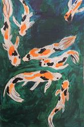 Art: koi by Artist Nancy Denommee