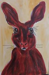 Art: red rabbit red by Artist Nancy Denommee