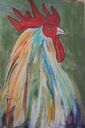 Art: rooster by Artist Nancy Denommee