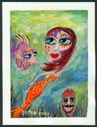Art: Mermaid -Lizzy by Artist Ke Robinson