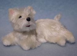 Art: Silk Furred Westhighland Terrier by Artist Camille Meeker Turner