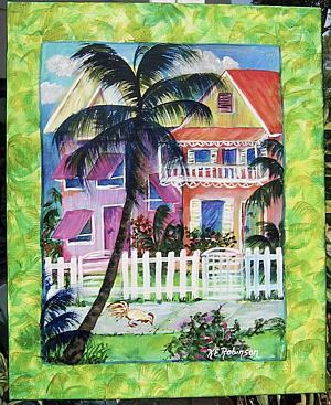 Art: Key West House - SOLD by Artist Ke Robinson
