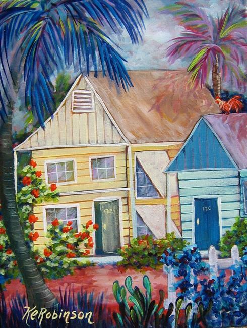 Art: Key West Bungalow by Artist Ke Robinson