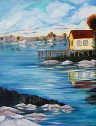 Art: Upper Coast Bait House by Artist Ke Robinson