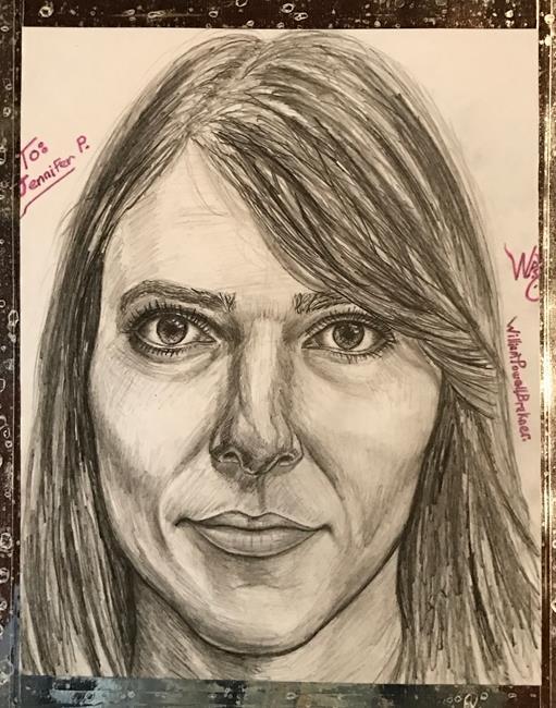 Art: Jennifer. by Artist William Powell Brukner