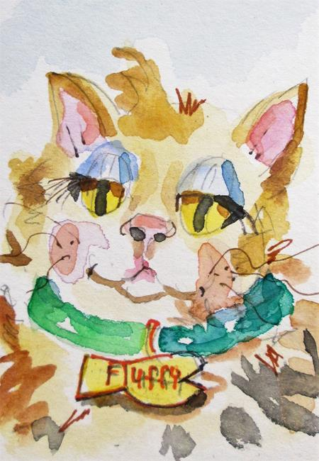 Art: Fluffy No.6 by Artist Delilah Smith