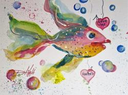 Art: Love Me Fish by Artist Delilah Smith