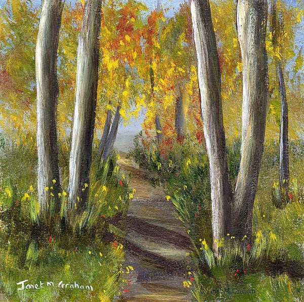 Art: Woodland Trail by Artist Janet M Graham