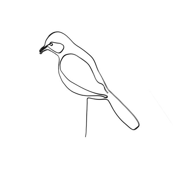 Art: Wire Bird by Leonard G. Collins by Artist Leonard G. Collins