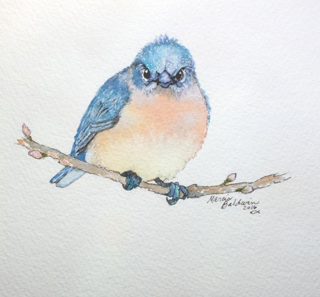Art: BABY BLUEBIRD 2 by Artist Marcia Baldwin