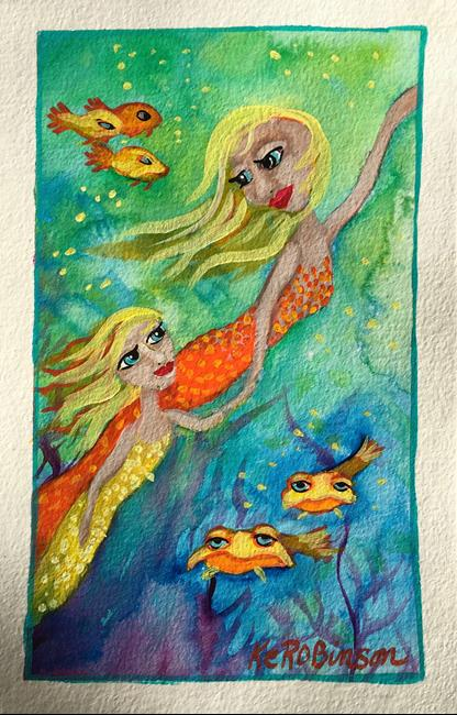 Art: Mermaid Reef  #1592 by Artist Ke Robinson
