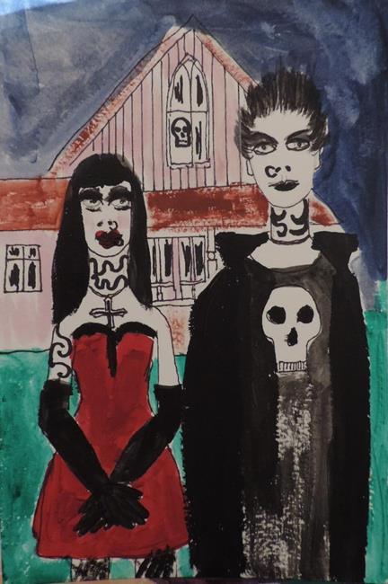 Art: american goth by Artist Nancy Denommee