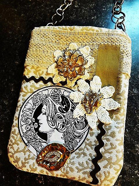 Art: Steampunk Purse 9   Front by Artist Vicky Helms