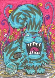 Art: Monster Yawn by Artist Emily J White