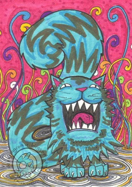 Art: Monster Yawn by Artist Emily J White