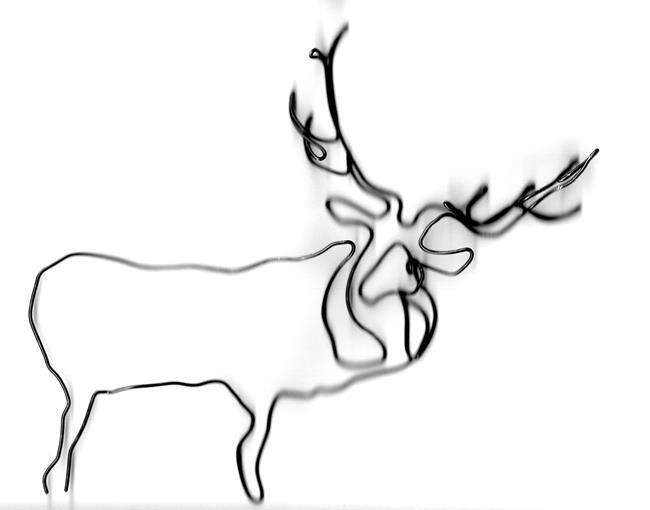 Art: Wire Elk by Leonard G. Collins by Artist Leonard G. Collins