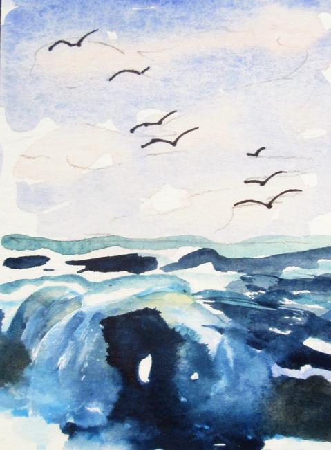 Art: Seascape by Artist Delilah Smith