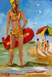 Art: Beach Girl by Artist Delilah Smith