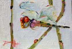 Art: Dragonfly and Lady Bug by Artist Delilah Smith