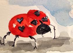 Art: Love Bug by Artist Delilah Smith