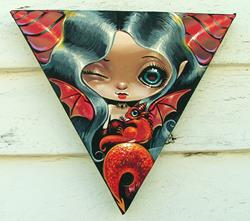 Art: Little Red Mischief by Artist Nico Niemi