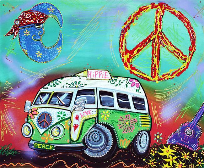 Art: Hippie Trip 2 by Artist Laura Barbosa