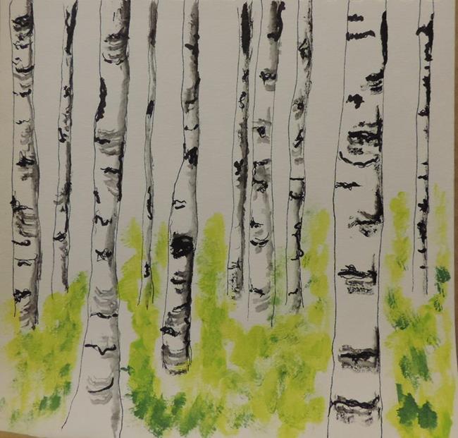 Art: silver birch by Artist Nancy Denommee