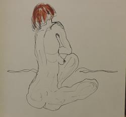 Art: nude by Artist Nancy Denommee