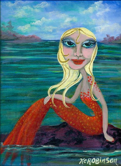 Art: caribbean Mermaid by Artist Ke Robinson