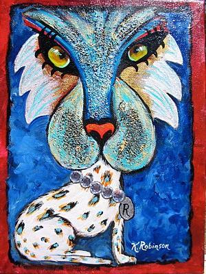 Art: Rich Cat- SOLD by Artist Ke Robinson
