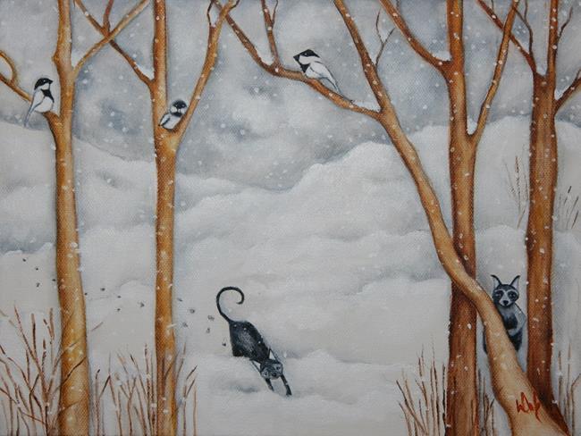 Art: SNOW DAY by Artist Deb Harvey