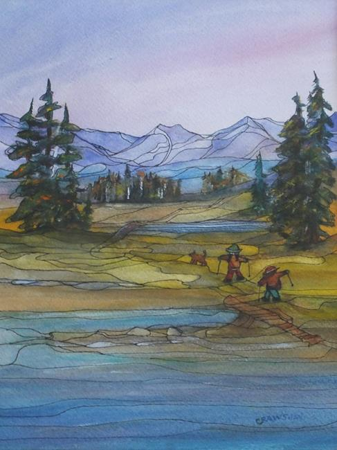 Art: Adventures with Friends (sold) by Artist Kathy Crawshay