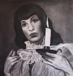 Art: The Beautiful Bettie Page by Artist Elisa Hirt