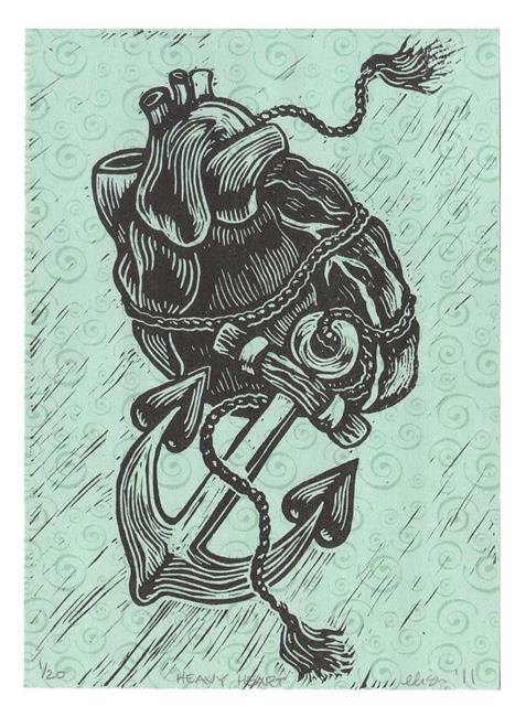 Art: Heavy Heart by Artist Elisa Hirt
