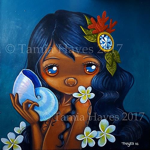 Art: Pearl Nautilus by Artist Tamia Hayes