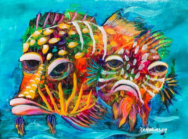Art: Coral Reef Fish #1641 SOLD by Artist Ke Robinson