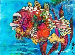 Art: Caribbean Fish #1634 by Artist Ke Robinson