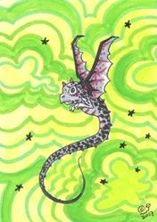 Art: Green Galaxy by Artist Emily J White