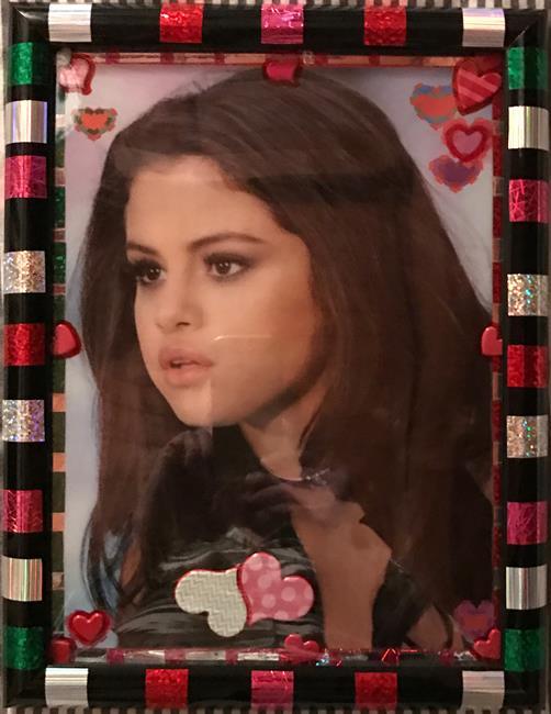 Art: Selena Gomez LAMINTED PHOTO ART by Artist William Powell Brukner