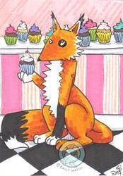 Art: Bakery Fox by Artist Emily J White