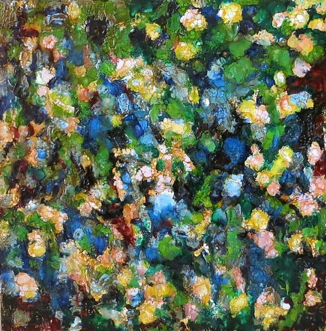 Art: Encaustic Wildflowers - sold by Artist Ulrike 'Ricky' Martin