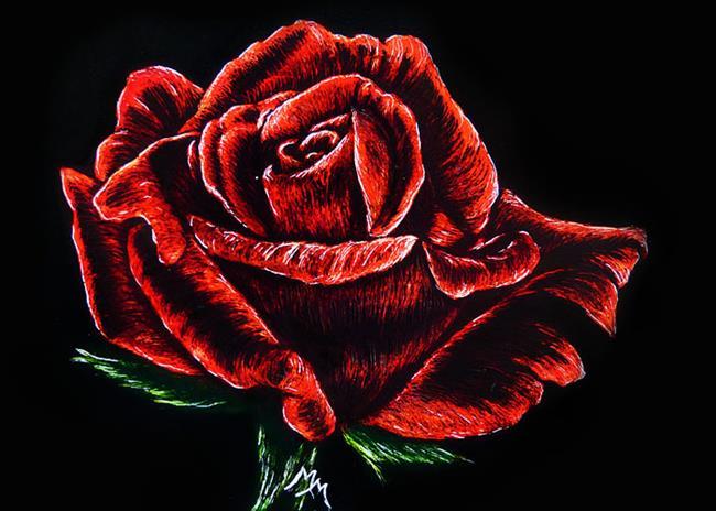 Art: Full Bloom (SOLD) by Artist Monique Morin Matson