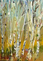Art: Birch Trees by Artist Delilah Smith