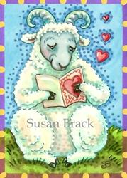 Art: THINKING OF EWE CARD by Artist Susan Brack