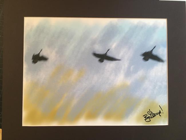 Art: Winter Flight by Artist Art ByGeorge!