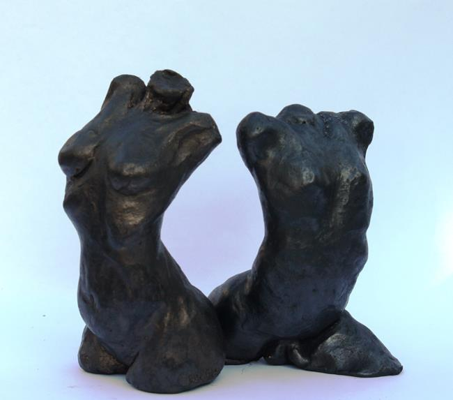 Art: Female and Male Gestures by Artist Carroll