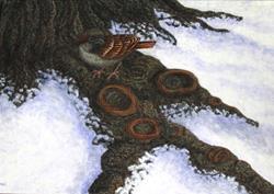Art: Winter Respite by Artist Jackie K. Hixon