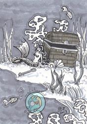 Art: Silver Shell by Artist Emily J White