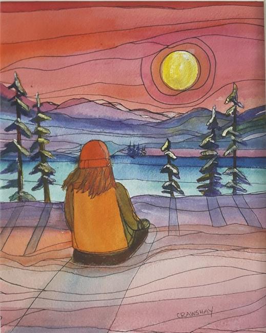 Art: Morning Stillness (sold) by Artist Kathy Crawshay